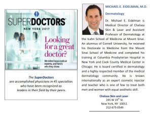 MICHAEL EIDELMAN named SUPERDOCTOR 2017